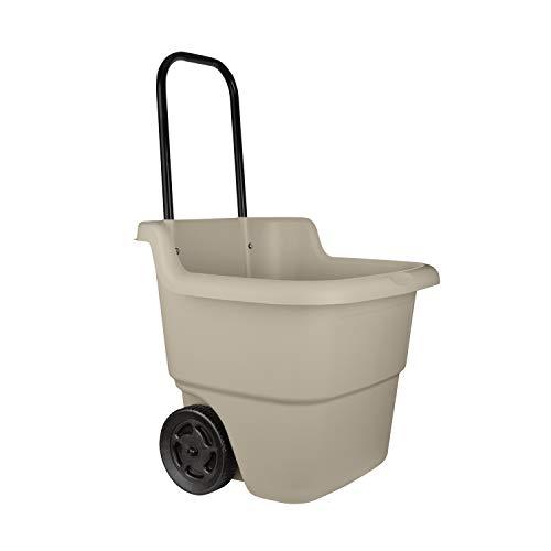 Suncast 2-Wheel Resin Multi-Purpose Cart for Garden