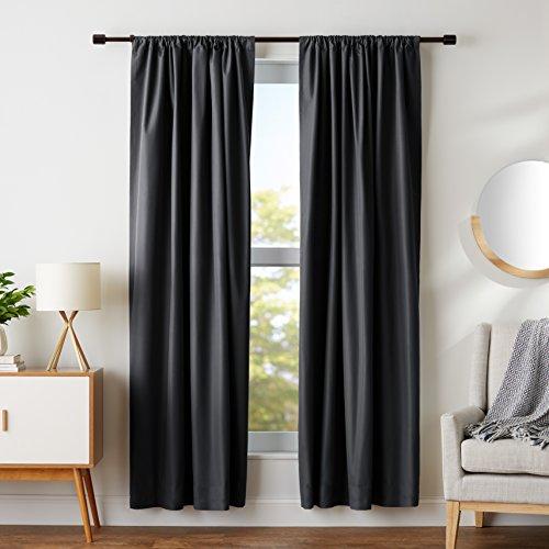 AmazonBasics Room Darkening Blackout Window Panel Curtains